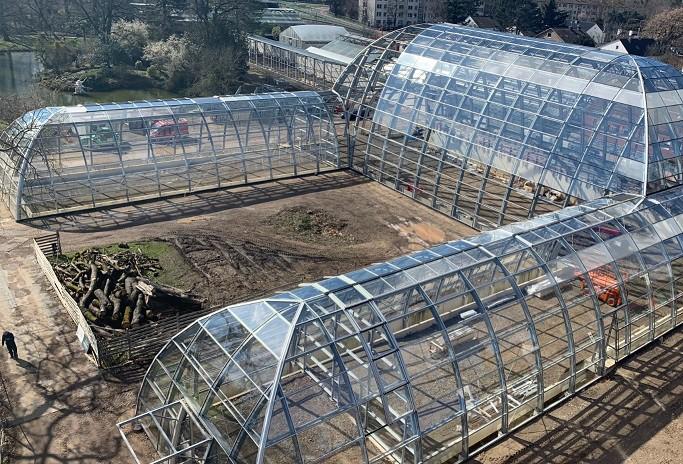 Glass construction botanical garden Flora