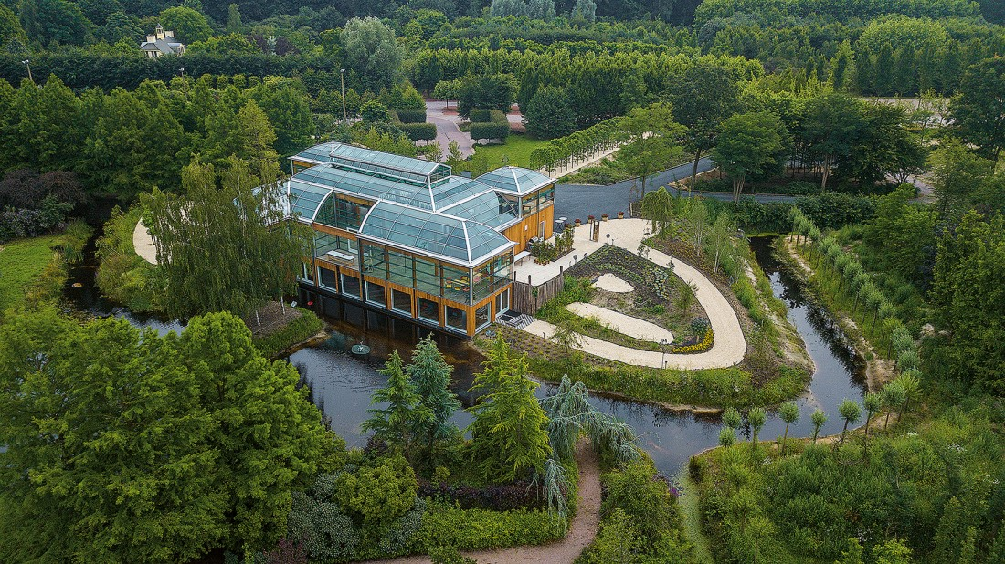 Luchtfoto Jardin dHiverre