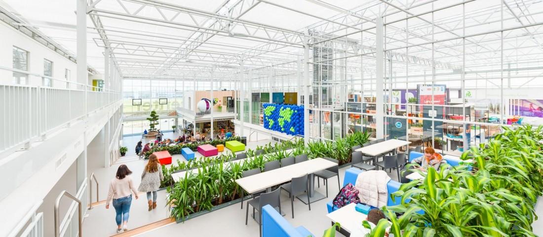 World Horti Center glass construction interior