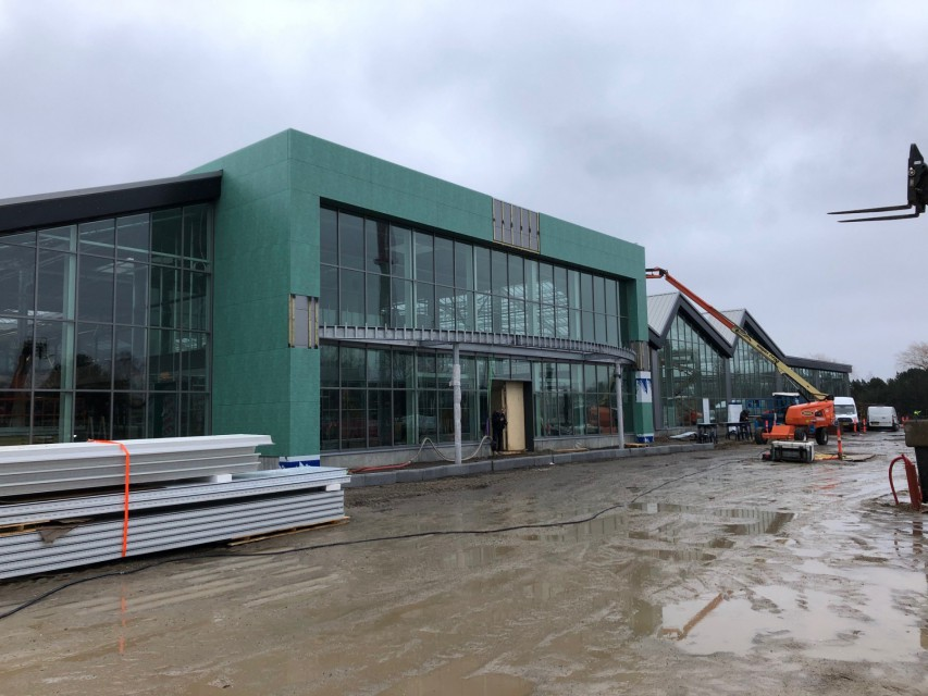 Plantorama construction realisation garden centre entrance