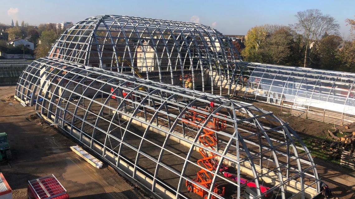 Botanical garden Flora Cologne glass construction 8