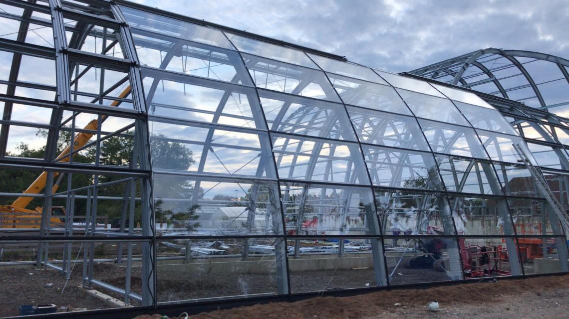 First glass for construction Flora Koln
