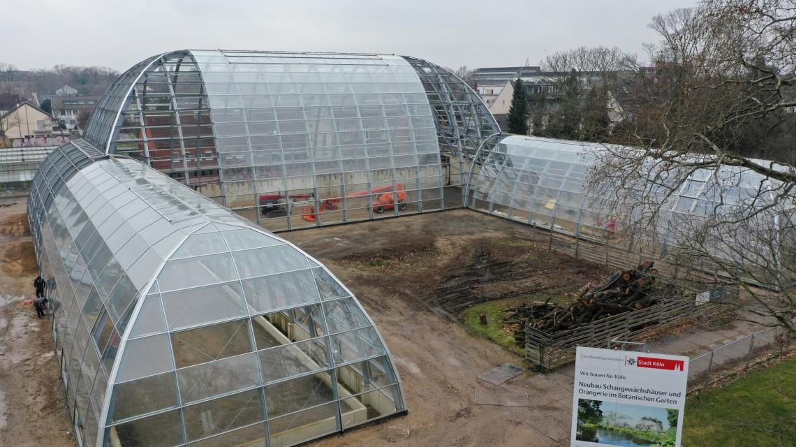 Steel construction glasshouse Flora Botanic garden