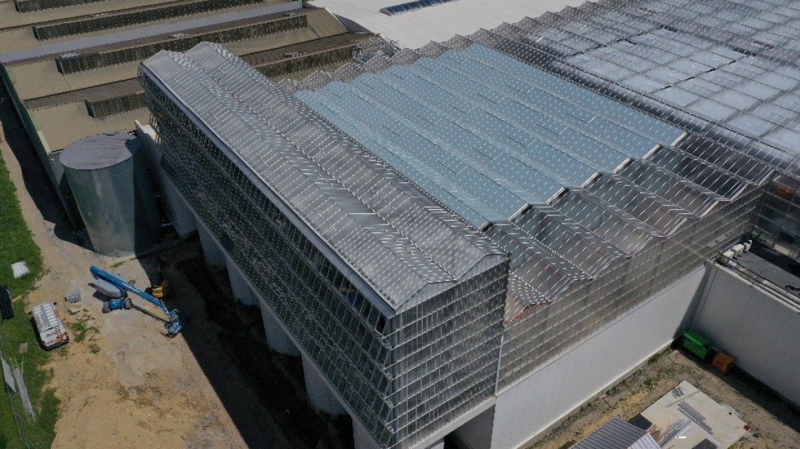 Dakserre Roeselare glas constructie design