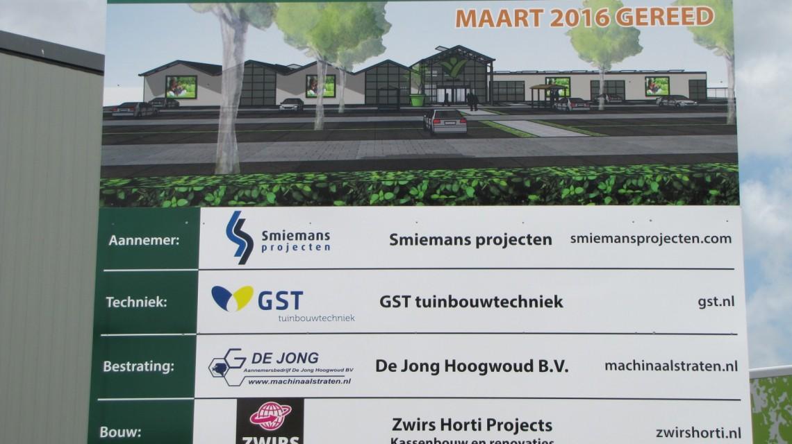 Constructie tuincentrum Groenrijk t Haantje