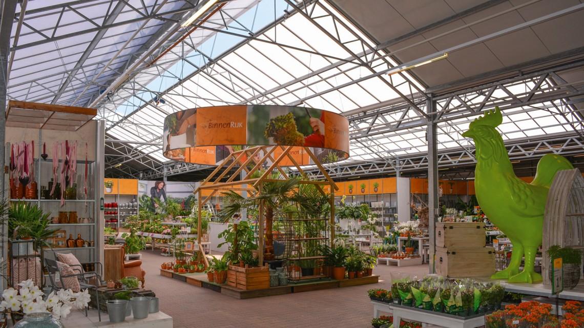 Realisatie tuincentrum breedkap Haantje