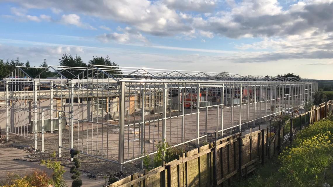 Pavilion glass construction garden centre