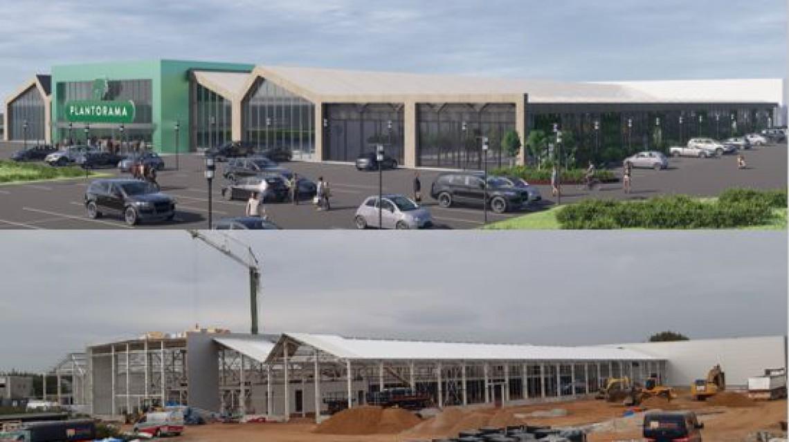 Construction largest garden centre Denmark 2