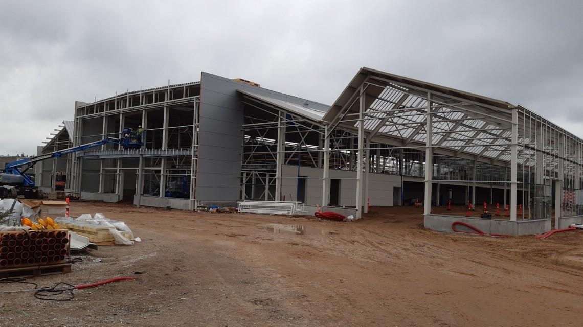 Tilst Plantorama garden centre build glass construction