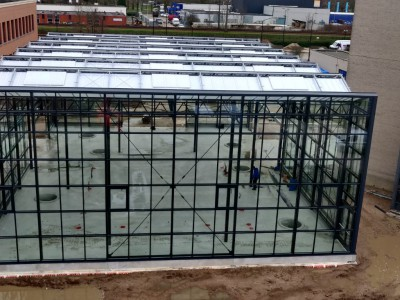Commercial greenhouse construction atria Planon
