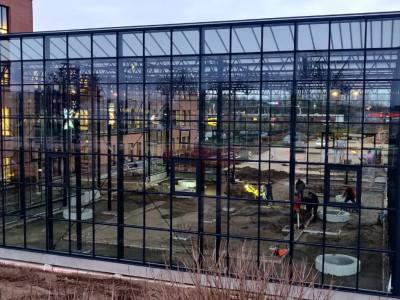 Planon atrium glas constructie