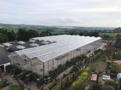 Pavilion glass construction garden centre 1