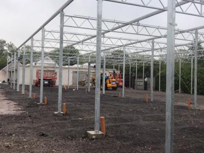 glass construction garden centre Pavilion Smiemans