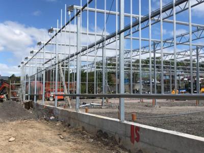 glass construction start garden centre Pavilion