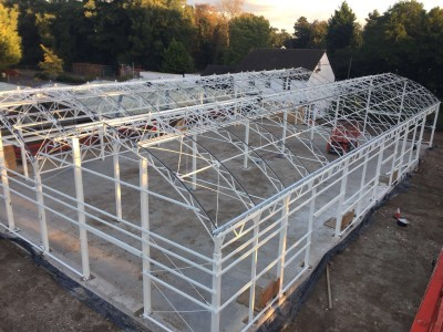 Squires garden center curved glasshouse