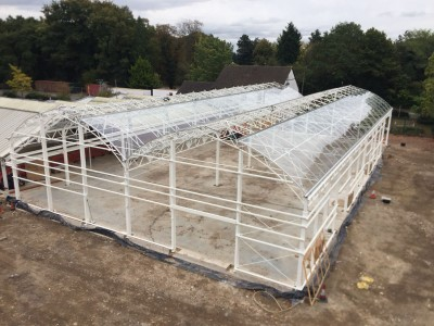 Squires garden centre curved glasshouse