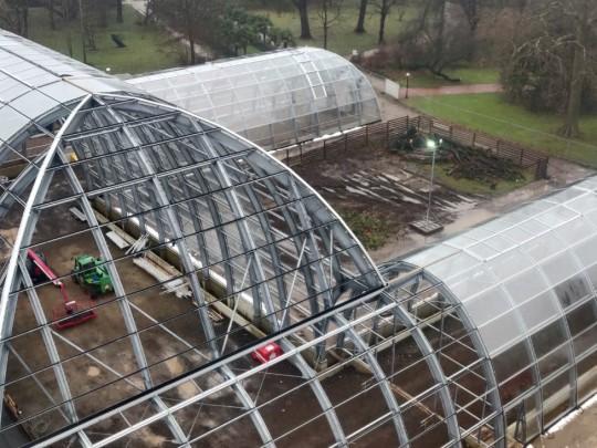 Botanischer garten Flora glass construction