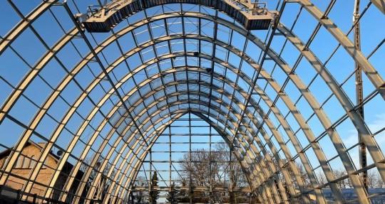 Steel construction Botanischer garten Flora Koln 1