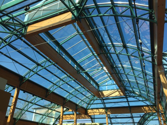 Construction glass roof